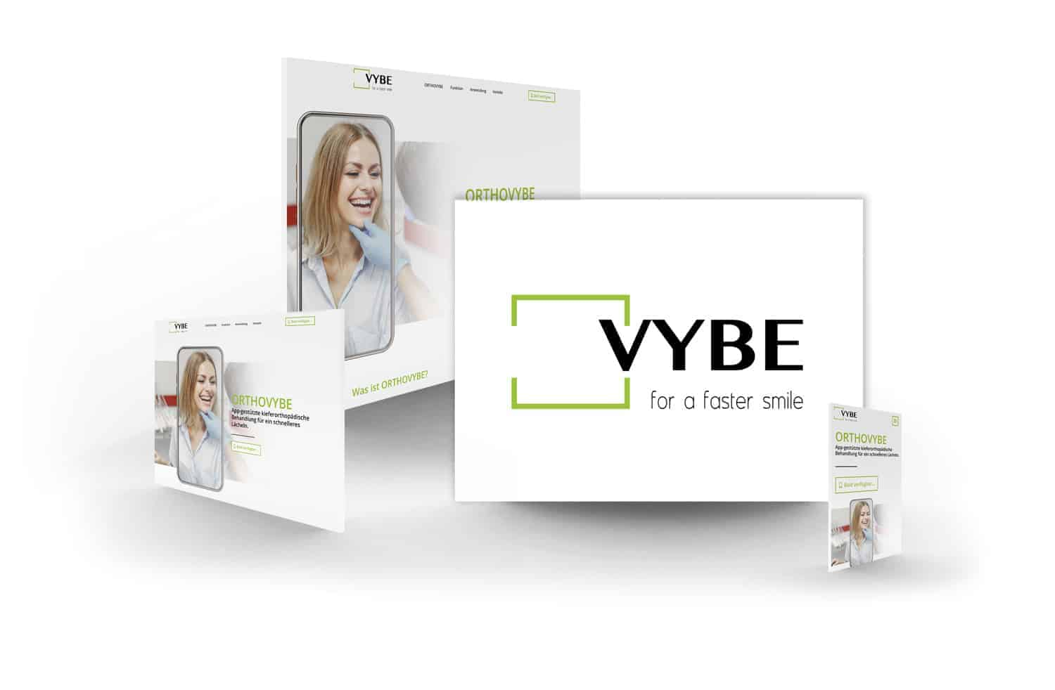 crocovision Webdesign Referenz VYBE - for a faster smile